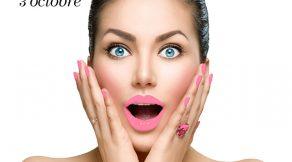 Beauty fashion surprised woman portrait